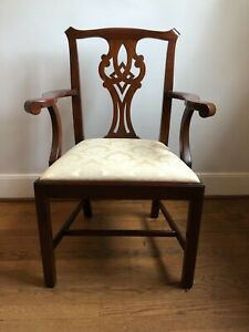 Henkel Harris Chippendale Mahogany Model 101 Arm Chair