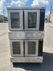 Lang Accu plus Gcco ap Double Stack Natural Gas Convection Oven Works Great