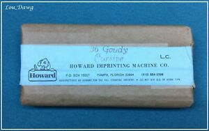 Howard Personalizer Type 36pt Goudy Cursive Hot Foil Stamping Machine