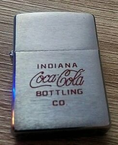 Zippo Indiana Coca-Cola Bottling Co. FREE POST WORLD WIDE