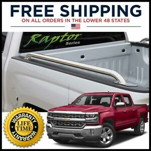 14 18 Chevy Silverado gmc Sierra 1500 5 8 Bed Side Rails Stainless Steel Raptor