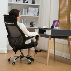 High Back Office Chair Ergonomic Recliner Pu Leather Computer Desk Task Chair Us