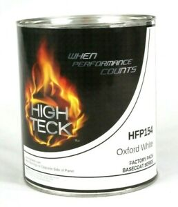 Oxford White Basecoat Paint Quart Ford Yz z1 Hfp154 High Teck