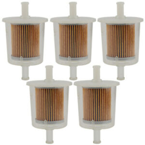 5pack New Motor Inline Gas Fuel Filter Small Engine For 5 16 Universal Line