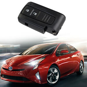 Black 2 Buttons Uncut Key Fob Remote Control Case Clicker Shell For Toyota Prius