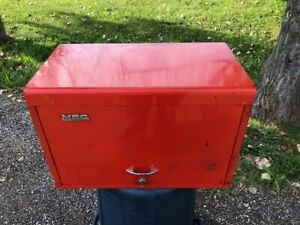 Vintage Metal Box Cabinet Corp Mb 229 Tool Box Chest Snap On 1966 With Key Mbc