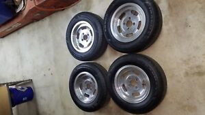 13 Slotted Mag Wheels New Tires Old School Slots Vintage Universal Bolt