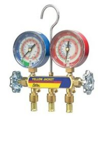 Yellow Jacket 42001 Manifold 3 1 8 Color coded Gauges R 22 404a 410a g1