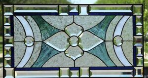 Angel Beveled Stained Glass Window Panel 28 1 2 X 16 1 2