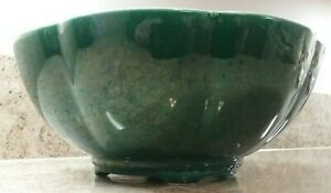Berns Of Hollywood Mcm Mid Century Modern Large Pottery Footed Console Bowl Ca