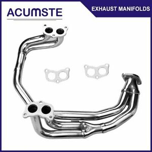 For 97 05 Subaru Impreza 2 5l Rs Ej25 Na Stainless Header Exhaust Pipe Manifold