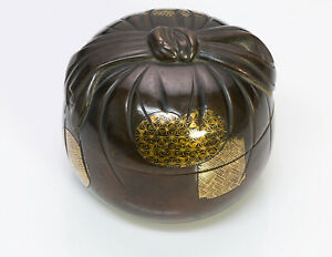 Antique Japanese Bronze Gold Bow Box