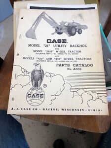 Case Model Backhoe 21 210b 430 440 A662 Parts Catalog Vintage Loader