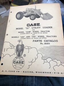 Case Model Backhoe 21 210b 430 440 A654 Parts Catalog Vintage Loader