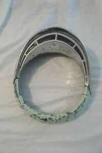 Original 1955 1956 Ford T Bird Crown Victoria Headlight Bezel With Eyebrow Trim