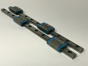 Pair Iko Ml9 Linear Guide Bearing Rail System 220mm Slide Way Maintenance Free