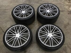 17 19 Porsche 991 Turbo S Design Oem Wheels Rims Tires Set Complete 20