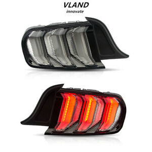 Vland Clear Led Tail Lights For Ford Mustang 2015 2020 With Sequential Indicator