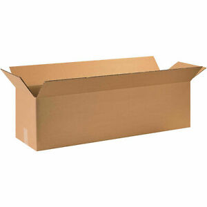 Long Cardboard Corrugated Boxes 44 X 12 X 12 Kraft 65 Lbs Capacity
