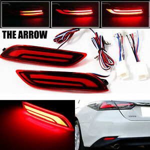 For Toyota Camry 2018 2019 Led Light Rear Warning Bumper Brake Tail Runing Lamp