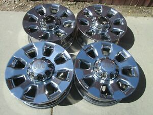 20 Ford F250 F350 Limited Oem Factory King Ranch Wheels Rims Chrome Pvd Set 4