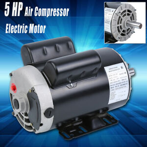 New 5 Hp Air Compressor Duty Electric Motor 3450 Rpm 7 8 Shaft Single Phase