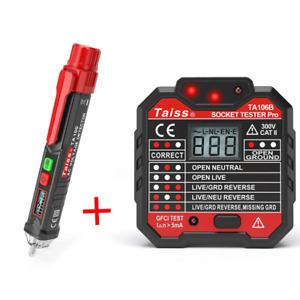 Twidec voltage Tester Pen Non contact With Led Flashlight Gfci Outlet Tester