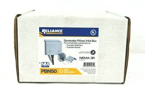 Reliance Pbn50 Generator Power Inlet Box Transfer Panel 50 amp 125 250 V Sealed