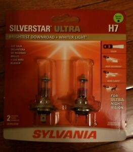 Sylvania Silverstar Ultra H7 Halogen Bulbs Dual Pack Brand New And Sealed