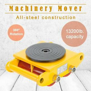 6t Industrial Machinery Mover With 360 rotation Cap 13200lbs 6t Dolly Skate Lfp