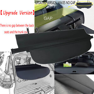 Updated Rear Trunk Privacy Cargo Black Shade Cover For 2014 2019 Nissan Rogue S