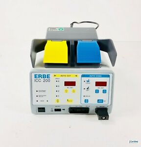 Erbe Icc 200 Electrosurgical Unit With Footpedal