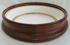 Deep Antique Victorian Walnut Gold Gilt Shadow Box Diorama Picture Frame Oval