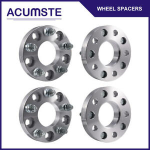 4pcs 1 5 Lug Hubcentric Wheel Spacers 5x4 75 70 3mm 12x1 5 Studs For Chevy Gmc