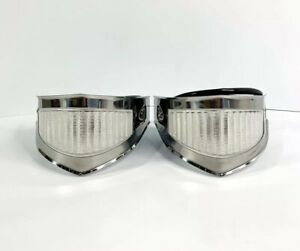 Pair Park Light Assembly W Stainless Bezels For 1953 1954 Ford F100 Truck