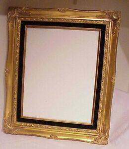 Vintage 19 X 16 Antique Style Gold Ornate Shadow Box Wooden Picture Frame