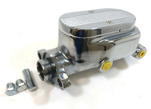 Master Cylinder 1 1 8 Bore 4 Ports 9 16 1 2 Ball Milled Top Chrome Aluminum