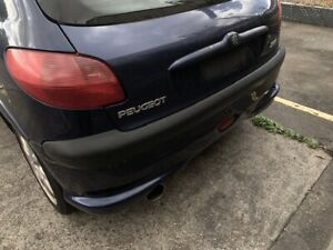 Peugeot 206 Gti Rear Bumper Complete Foglight Blue Good Condition