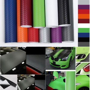 127 30cm 3d Matte Car Carbon Fiber Vinyl Wrap Sticker Film Roll Decal 12 X 50