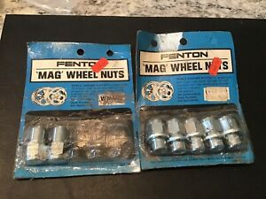 Nos Fenton Mag Wheel Nuts Vintage Mag Aluminum Wheels Dodge Plymouth Chevy Ford