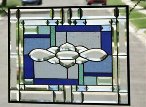 Dreamer Beveled Stained Glass Window Panel 24 X 16 1 2