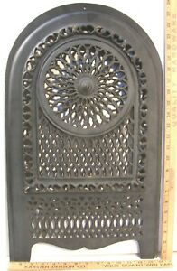 Antique Victorian Ornate Cast Iron Fireplace Summer Cover Insert Pierced Arched