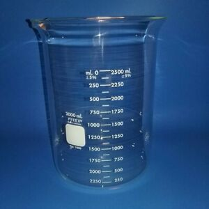Pyrex 1000 3l Brand 1000 Griffin Low form Beaker 3000 Ml