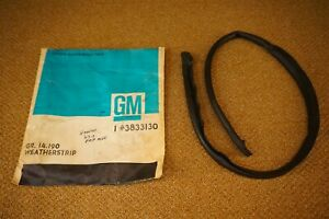 Nos 63 64 65 66 67 Corvette Hard Top Front Drip Rail Weatherstrip Seal Coupe