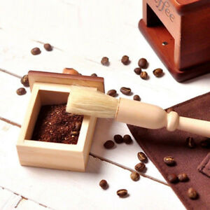 1 Coffee Grinder Cleaning Brush Natural Wood Handle Dusting Cleaner Accessories