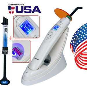 Dental Led Lamp Curing Light Wireless With Light Meter 2000mw W composite Resin