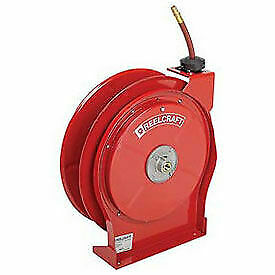 All Steel Compact Retractable Hose Reel For Air water 3 8 X 50 300psi Lot Of