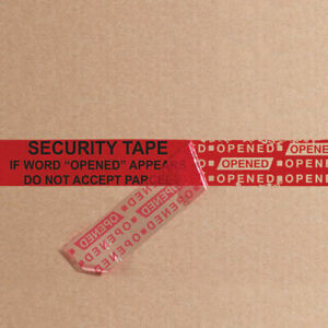2 5 Mil Security Tape 3 x60 Yds Red 1 Pack Lot Of 1