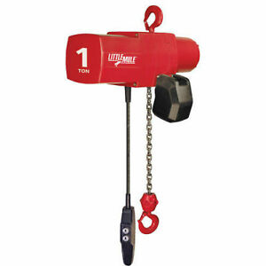 Coffing Little Mule Electric Chain Hoist With Chain Container 1000 Lb Cap