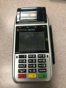 First Data Fd 410 Credit Card Machine Wireless Smart Chip Debit Reader Terminal